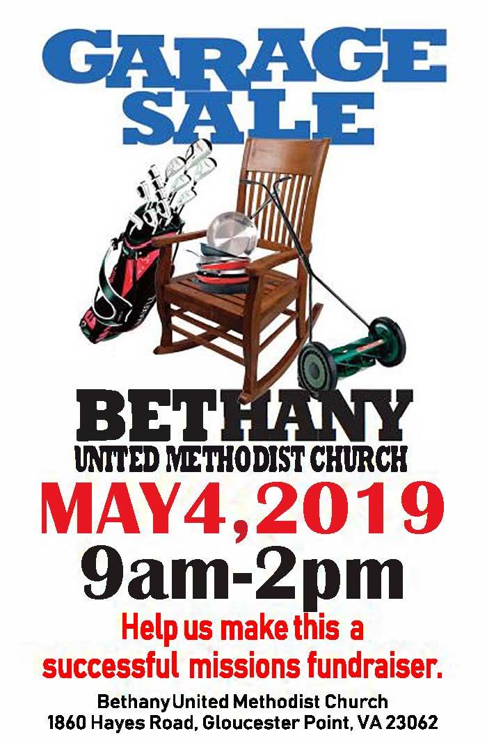 UMM Garage Sale 2019 | Bethany United Methodist Church